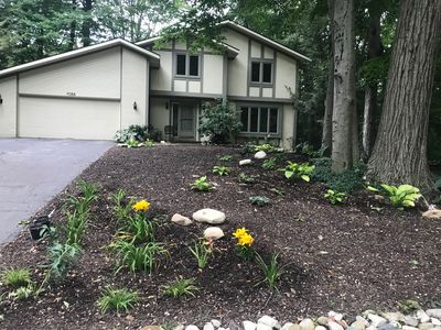 Classic home in the Waukazoo Woods Holland Michigan. Lake-Family-Activity Ready