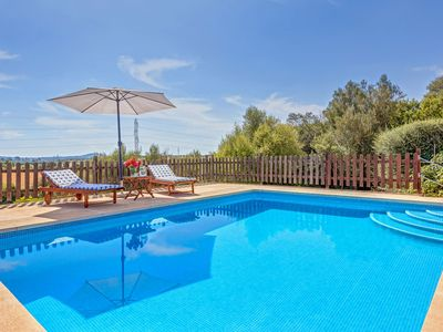 Photo for With panoramic views and pool - Villa Es Turó Des Bessons