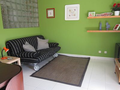 Photo for Maximum capacity 4 people, 1 bedroom double bed, living room 1 large sofa bed.