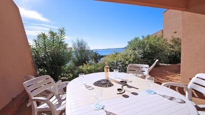 Photo for Apartment T3 - 4 people - Sea view - WiFi - Swimming pool residence - Sainte Maxime