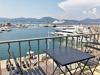 Photo for Beautiful apartment on the 3rd floor on the Port of Saint-Tropez - R_A001