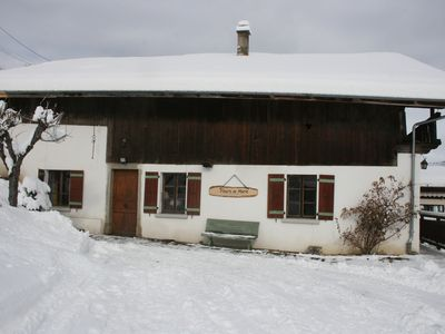 Photo for Semi-detached chalet facing Mont-Blanc 6 people 95m²