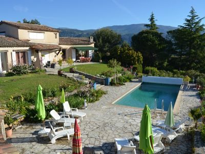 Photo for Superb villa with pool, sea view, large wooded grounds, quiet, no vis à v