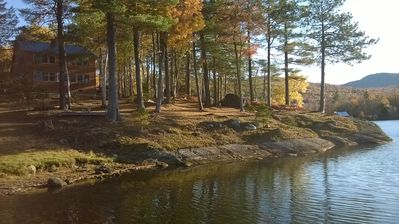 Photo for Concord Pond waterfront retreat, off-the-grid camp but with the luxury of home