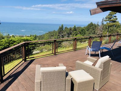 Photo for Hilltop Oceanview oasis-10 acre sanctuary with sweeping views and fireplace