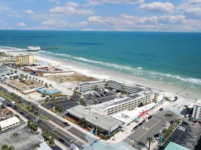 Photo for NEW LISTING! Cozy studio in oceanfront complex, shared pool/sundeck- near beach