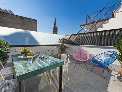 Photo for 2 Bedrooms w/Terrace near to the Cathedral, Mateos Gago Terrace III