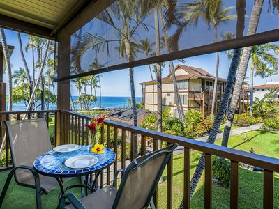 Photo for Kona Isle C28. Corner Unit, 2nd Floor, Ocean Views, & Air Conditioning!