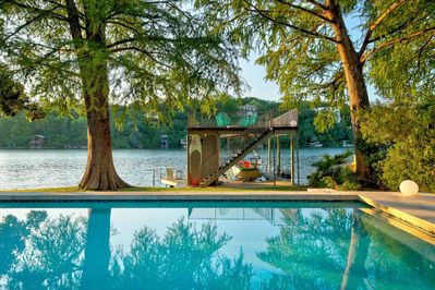 Pool/Lake Dock - Gorgeous summer days are meant to be spent in this pool and on the upper level dock soaking in the sun