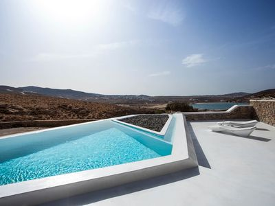 Photo for Villa Neptune, luxury modern villa in Ftelia, Mykonos, with private pool, near the beach