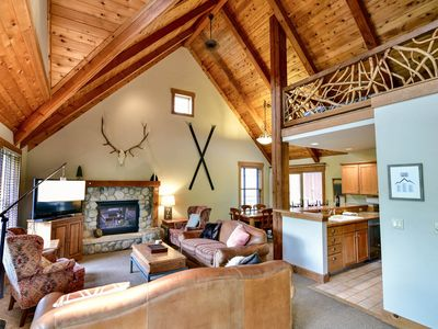 Photo for Large and Private 3 bed + loft, 3 bath HOUSE + Hot Tub at Cabin in the Pines