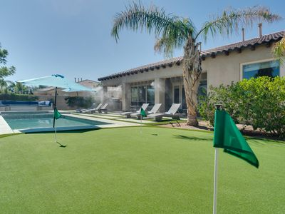 Photo for BACKYARD PARADISE! BBQ-Putting Green-Misting System(walk to FESTIVALS!) MONTAGE!