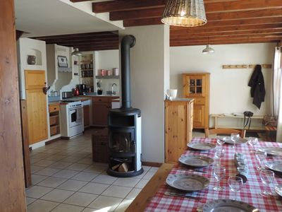 Photo for House 8 people comfortably 150m from the slopes - Linen included