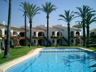 Photo for DENIA BUNGALOW TO 75M ARENA BEACH, POOL AND GARDENS. PARKING, 5 PEOPLE