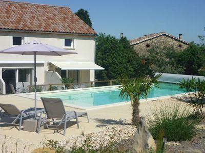 Photo for 3 lodgings of 60m², heated pool, open view, the heart of a nature reserve