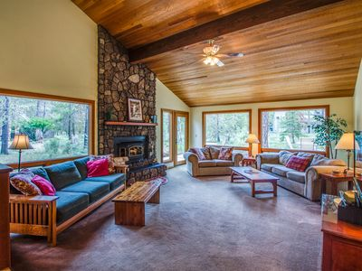 Photo for Walk to the Village at Sunriver, Home features a Sauna & Hot Tub  - CATA02