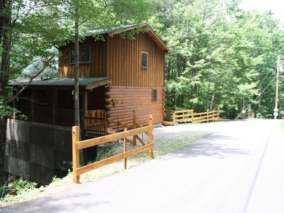 Photo for Log cabin getaway in the mountains.