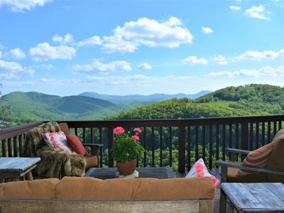 Photo for Majestic, Vast Mountain Views, Secluded, and just 15 Minutes from the Lake!