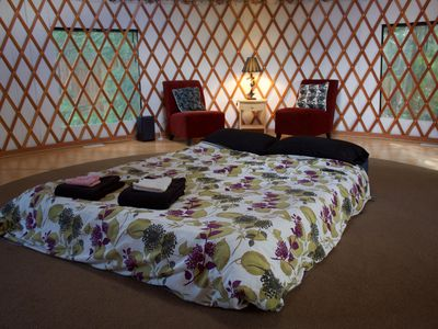 Photo for Sally's Yurt in Beautiful Comox Valley Near Pristine Rivers, Oceans and Forests