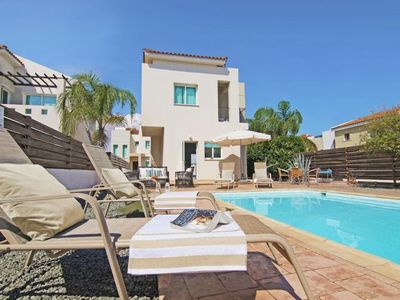 Photo for Paralimni Holiday Home, Sleeps 5 with Pool, Air Con and WiFi