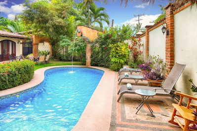 Private Pool in walled compound