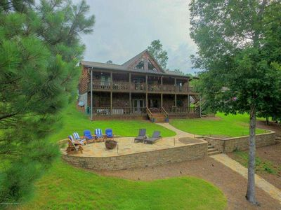 Photo for Smith Lake Rentals & Sales - SUMMER DAZE - Two story covered porch overlooking lake