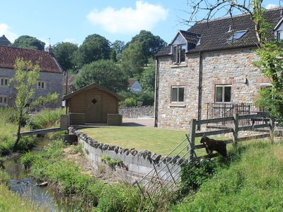 Photo for Contemporary Holiday Cottage by leat of a river, rural views, 11 miles from Bath