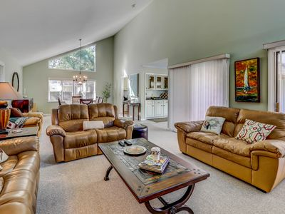 Photo for Family-friendly house w/ private pool & full kitchen - walk to beach!