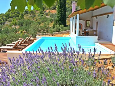 Photo for Eco-friendly Hvar amazing sea view villa with pool, playground, U-pick garden...