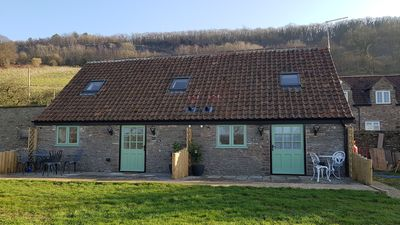 Converted barn showing both Deer and Swallow Cottages.
