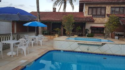 Photo for Beautiful house with pool, 15 meters from the beach. Accommodates 20 people
