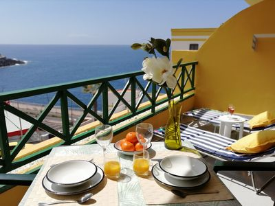 Photo for Sea view holiday apartment next to Playa La Arena beach!