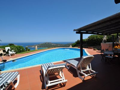 Photo for Private villa with swimming pool and sea views
