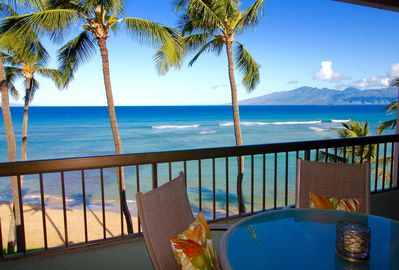Amazing views from your oceanfront lanai.