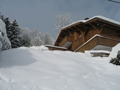 Photo for CHALET IN EXCEPTIONAL SITE 300 m FROM THE MECHANICAL HIGHWAYS