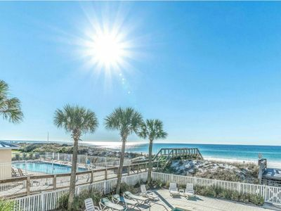 Photo for Veranda 102 Gulf Front  1 Bedroom Sleeps 6 with Bunks & Sleeper Sofa Sleeps 6
