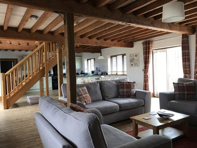 Photo for The Hayloft Barn - spacious family accommodation set on our rural farm