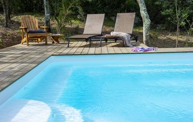 Photo for LUXURY BERGERIE **** in stone (2019) Heated swimming pool. Quiet and mountain view.