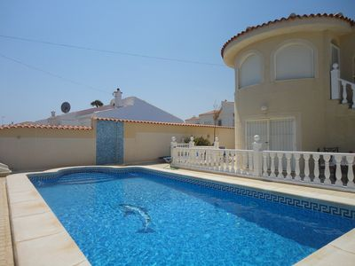 Photo for Comfortable villa with private swimming pool and garden at 3km from the beach