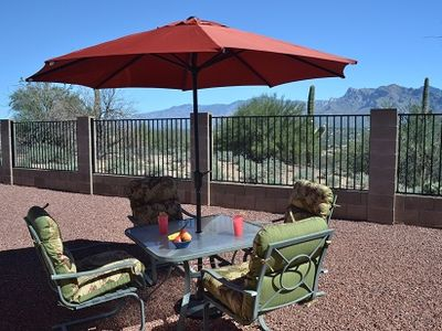 Relax and enjoy view of rugged Catalina Mountains