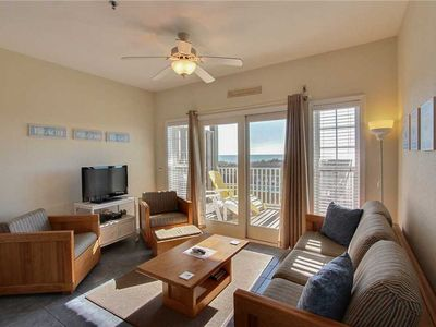 Photo for Great Ocean Views from oceanfront decks. Community pool & game room!