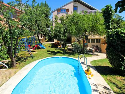 Photo for This 6-bedroom villa for up to 12 guests is located in Sveti Filip i Jakov  and has a private swimmi