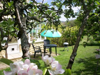 Orchards End Pretty sunny private garden ideal for a BBQ.