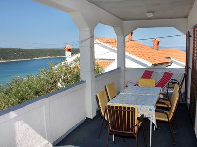 Photo for Three bedroom apartment with terrace and sea view Kampor, Rab (A-5032-a)