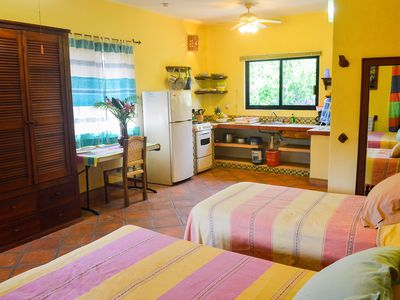 Photo for Charming private suite w/ kitchen, view, ionization pool system, 1min to beach