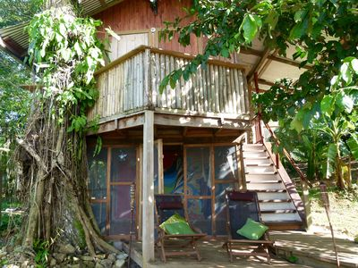 Photo for Whimsical Treehouse on cacao farm in Dolphin Bay