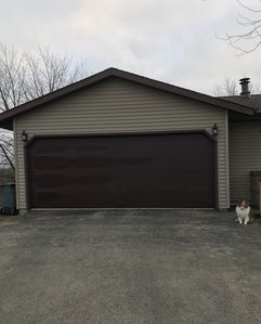 Two car garage with two openers