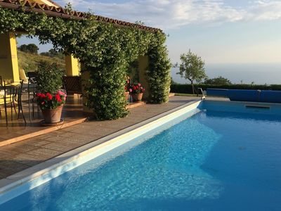 Photo for Very spacious house with private swimming pool and enclosed garden with panoramic view.