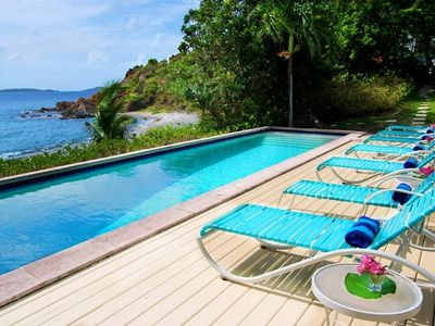 Photo for Beachfront Villa! Large Lap Pool and Spa!