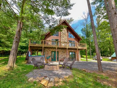 Photo for Rock Lodge Retreat- Lake Area Home w/ Fire Pit and Hot Tub